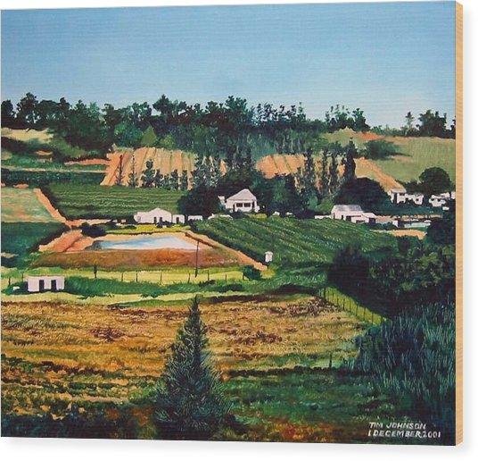 Chubby's Farm Wood Print