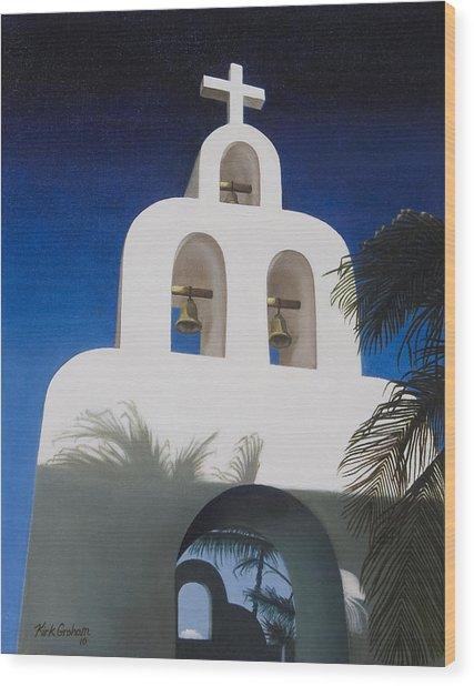 Church At Playa Del Carmen Wood Print by Kirk Graham
