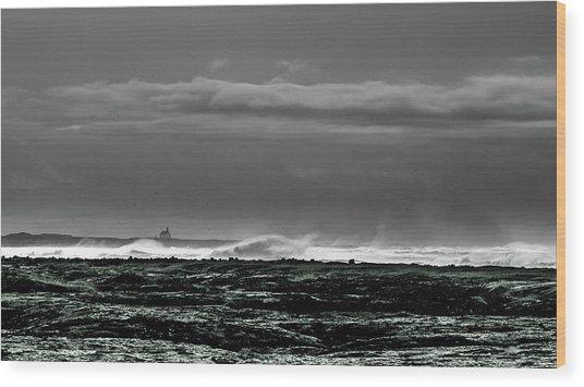 Church By The Sea Wood Print