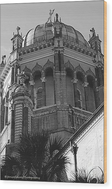 Church Dome Wood Print