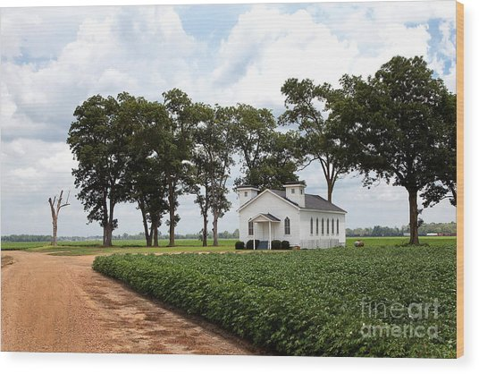 Wood Print featuring the photograph Church From The Help Movie In Mississippi by T Lowry Wilson