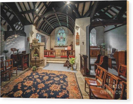 Church Hymns Wood Print