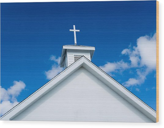 Church In Bahamas Wood Print by Richard Steinberger