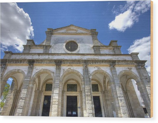 Church In Evora Wood Print by Andre Goncalves