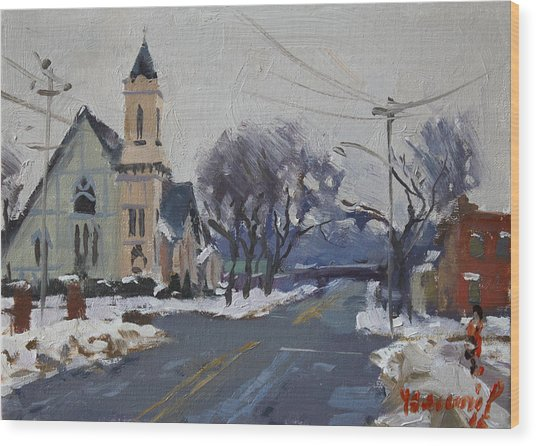 Church In North Tonawanda Wood Print