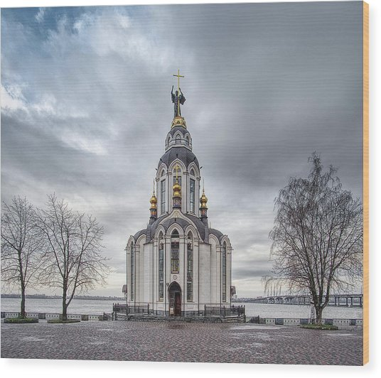 Wood Print featuring the photograph Church Of St. John The Baptist, St. 2. Dnipro, 2017. by Andriy Maykovskyi