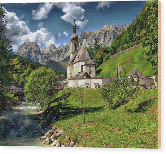 Church Of St. Sebastian Wood Print