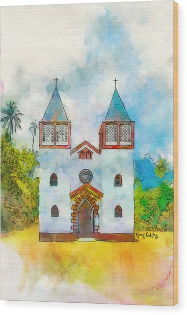Church Of The Holy Family Wood Print