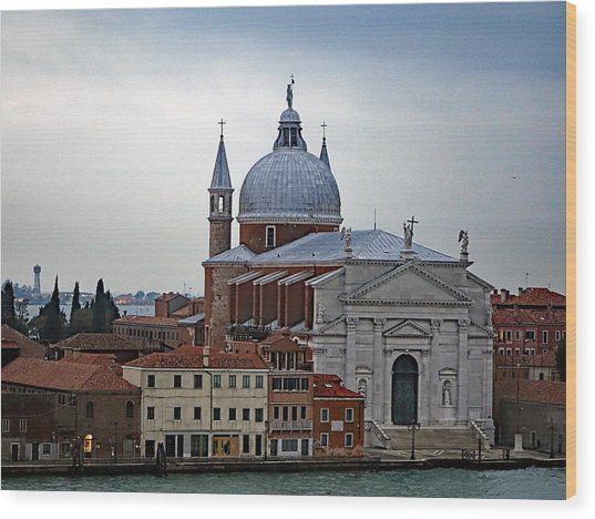 Church Of The Santissimo Redentore On Giudecca Island In Venice Italy Wood Print