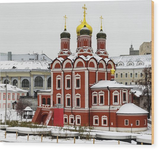 Church Of The Znamensky Monastery  Wood Print