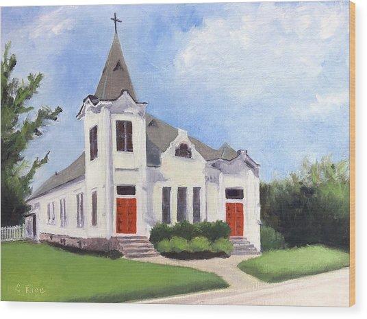 Church On 12th South, Nashville Wood Print