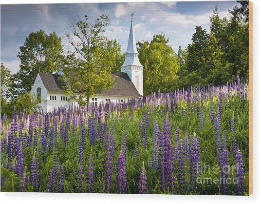 Church On Sugar Hill Wood Print