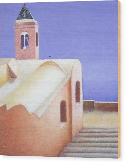 Church On The Coast Wood Print by Gloria Cigolini-DePietro
