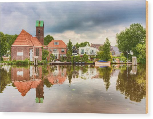 Church Reflections Wood Print