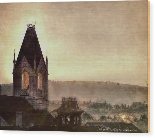 Church Steeple 4 For Cup Wood Print