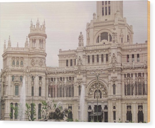 Cibeles Palace Wood Print by JAMART Photography