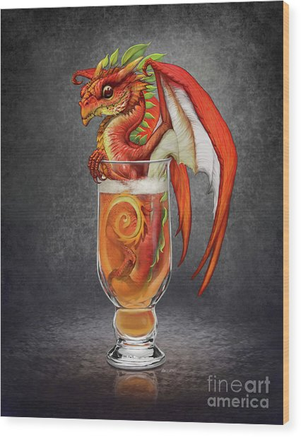 Cider Dragon Wood Print