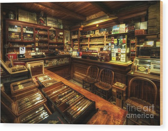 Cigar Shop Wood Print