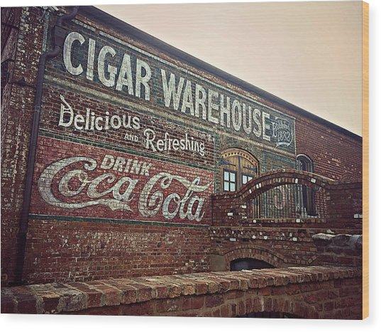 Cigar Warehouse Greenville Sc Wood Print