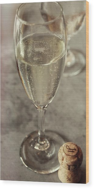 Cin Cin Champagne Therapy Wood Print by JAMART Photography