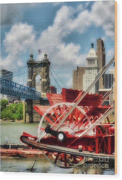 Cincinnati Landmarks 1 Wood Print by Mel Steinhauer