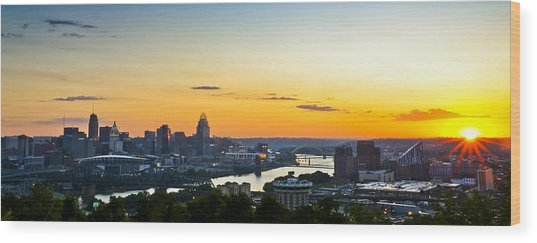 Cincinnati Sunrise II Wood Print