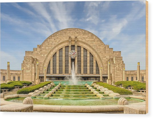 Cincinnati Union Terminal Train Station And Museum  -  Cintrst200 Wood Print