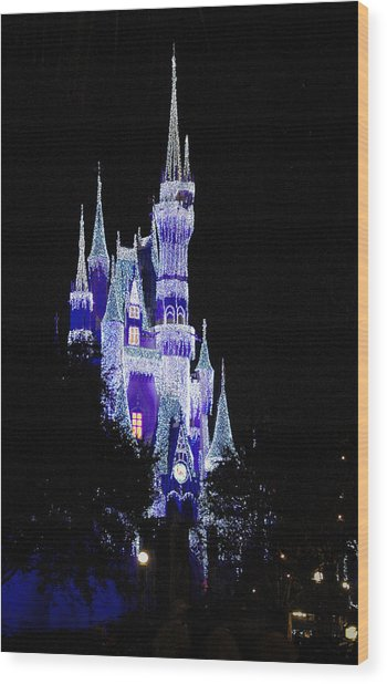 Cinderella's Castle 2 Wood Print by Frank Mari