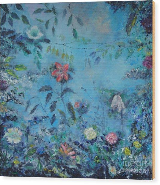 Cinderellas Garden Wood Print