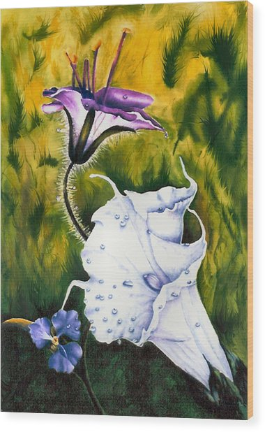 Cindy's Lily Wood Print by JoLyn Holladay