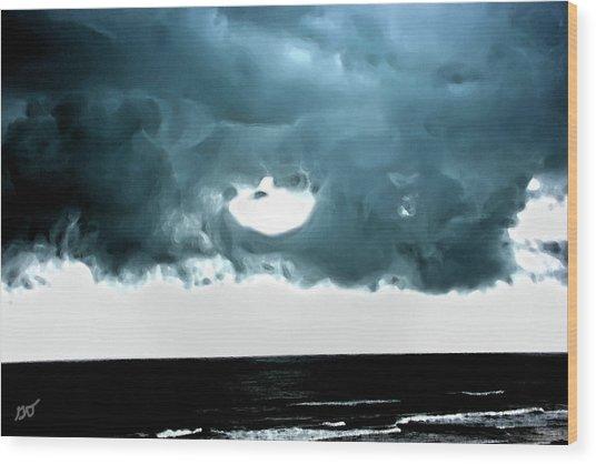 Circle Of Storm Clouds Wood Print