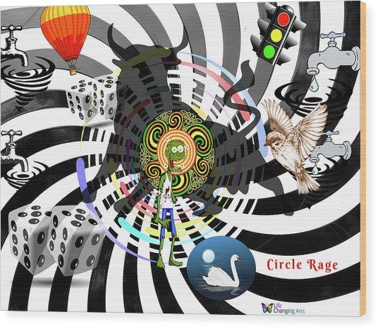 Circle Rage II Wood Print
