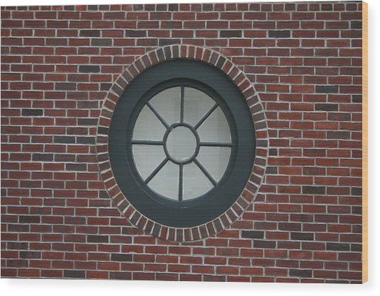 Circle Window Wood Print by Dennis Curry