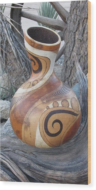 Circles And Swirls #g062 Wood Print