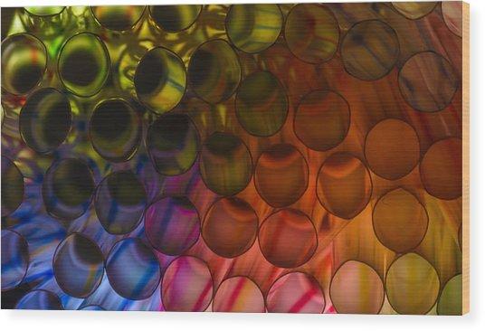 Circles In Color Wood Print