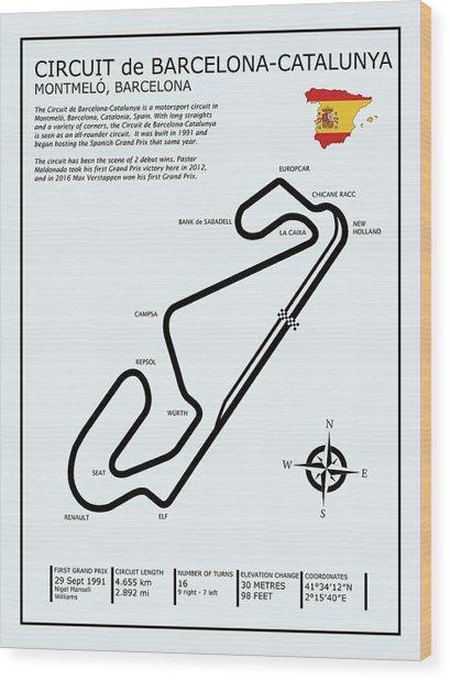 Circuit De Barcelona Catalunya Wood Print