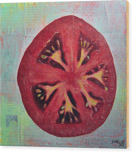 Circular Food - Tomato Wood Print