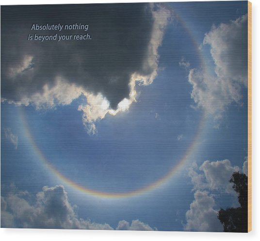Circular Rainbow Inspiration Wood Print