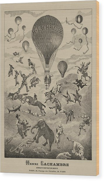 Circus Balloon Wood Print