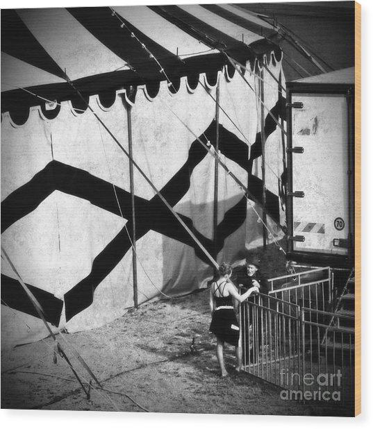 Circus Conversation Wood Print