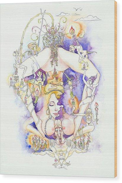 Cirque Du Huntey Wood Print by Igor Khunteyev