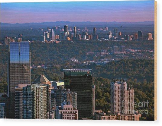Cities Of Atlanta Wood Print