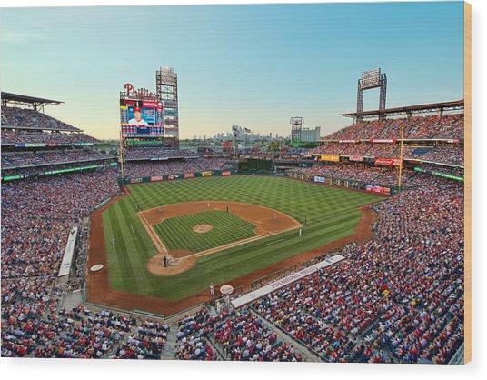 Citizens Bank Park - Philadelphia Phillies Wood Print