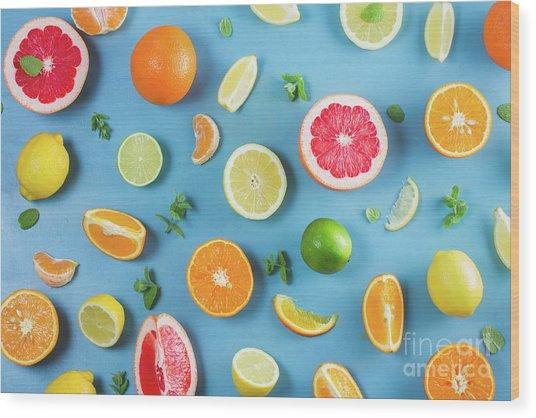 Citrus Summer Wood Print