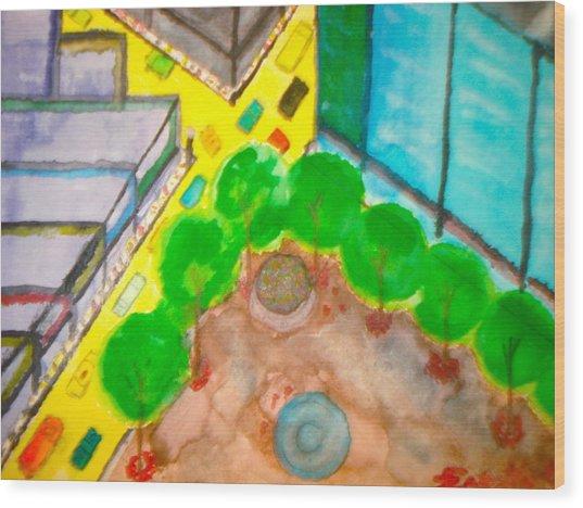 City - 1  Wood Print