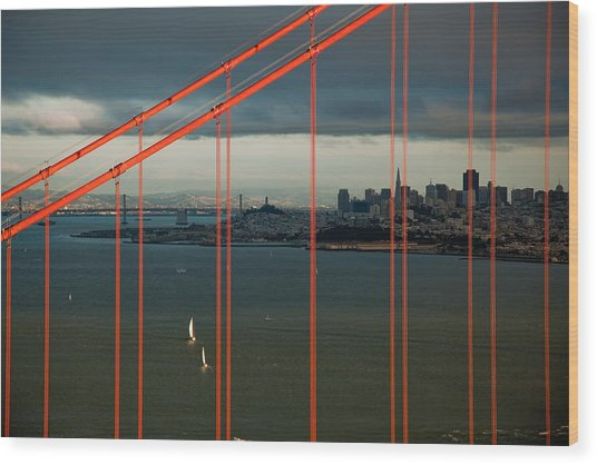 City By The Bay Wood Print by Patrick  Flynn