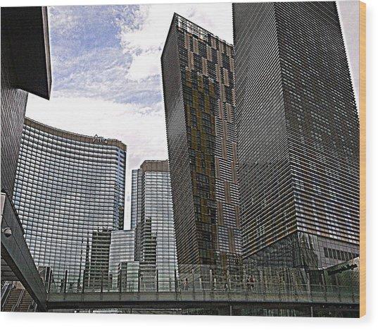 City Center At Las Vegas Wood Print