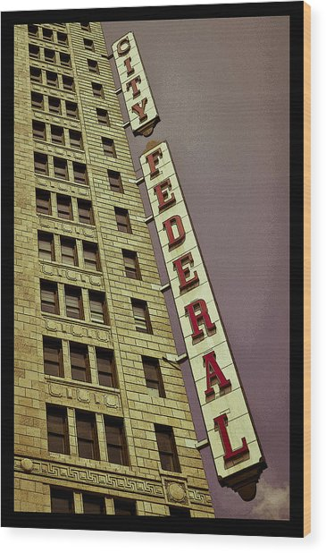 City Federal Poster Wood Print