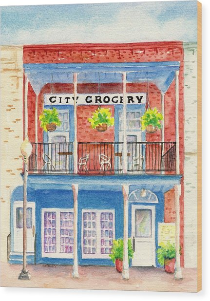 City Grocery Oxford Mississippi  Wood Print