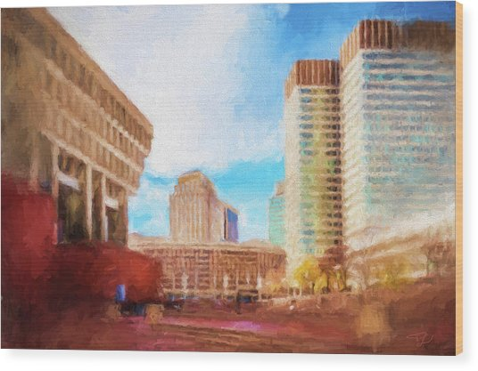 City Hall At Government Center Wood Print